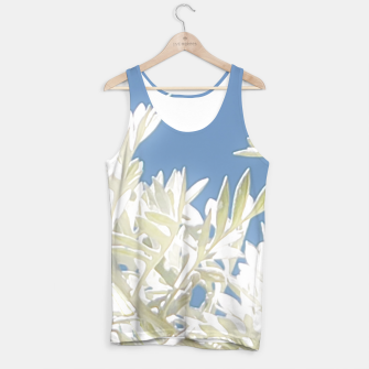 Thumbnail image of White Plants over Blue Sky Tank Top, Live Heroes