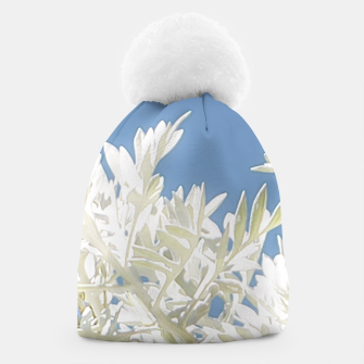 Thumbnail image of White Plants over Blue Sky Beanie, Live Heroes