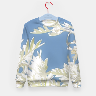 Thumbnail image of White Plants over Blue Sky Kid's Sweater, Live Heroes