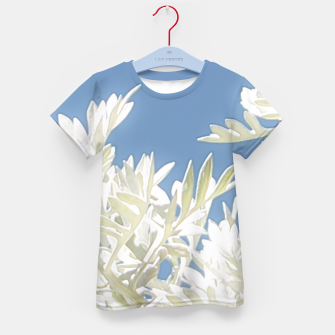 Thumbnail image of White Plants over Blue Sky Kid's T-shirt, Live Heroes