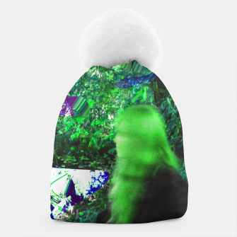 Thumbnail image of Walking by in greenhair Beanie, Live Heroes