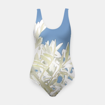 Thumbnail image of White Plants over Blue Sky Swimsuit, Live Heroes