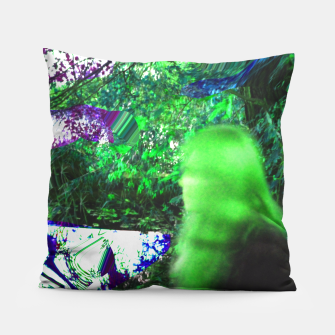 Thumbnail image of Walking by in greenhair Pillow, Live Heroes
