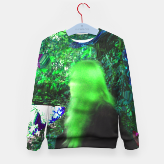 Thumbnail image of Walking by in greenhair Kid's Sweater, Live Heroes