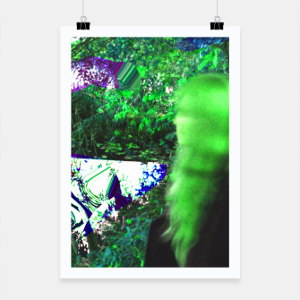 Thumbnail image of Walking by in greenhair Poster, Live Heroes