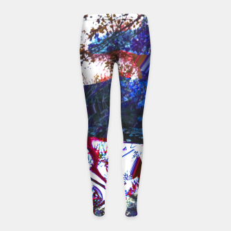 Thumbnail image of Bluehair in the lake Girl's Leggings, Live Heroes