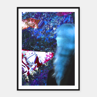 Thumbnail image of Bluehair in the lake Framed poster, Live Heroes