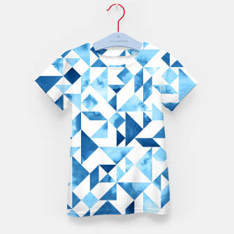 Miniature de image de Blue Tangram Composition Kid's T-shirt, Live Heroes