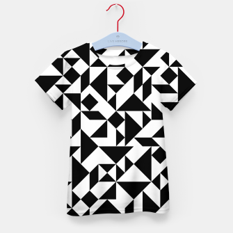 Miniature de image de Tangram Composition in Black and White Kid's T-shirt, Live Heroes