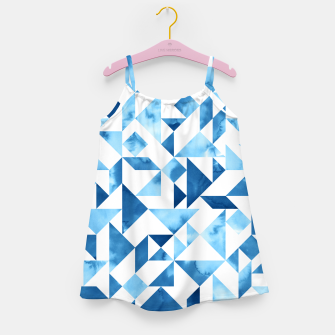 Miniature de image de Blue Tangram Composition Girl's Dress, Live Heroes