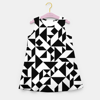 Miniature de image de Tangram Composition in Black and White Girl's Summer Dress, Live Heroes
