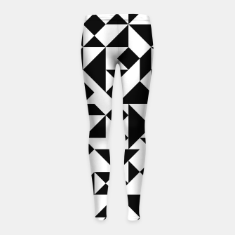 Miniature de image de Tangram Composition in Black and White Girl's Leggings, Live Heroes