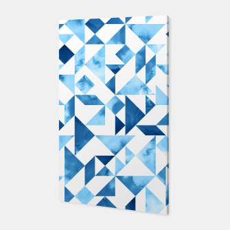 Miniature de image de Blue Tangram Composition Canvas, Live Heroes