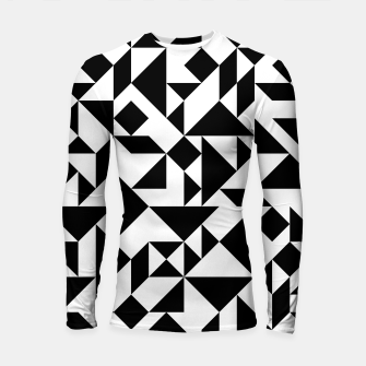 Miniature de image de Tangram Composition in Black and White Longsleeve Rashguard , Live Heroes