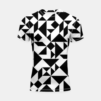 Miniature de image de Tangram Composition in Black and White Shortsleeve Rashguard, Live Heroes