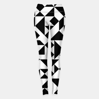 Miniature de image de Tangram Composition in Black and White Leggings, Live Heroes