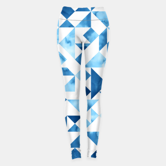 Miniature de image de Blue Tangram Composition Leggings, Live Heroes