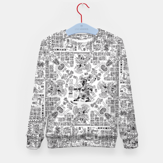 Thumbnail image of Mayan Spring B&W Kid's Sweater, Live Heroes