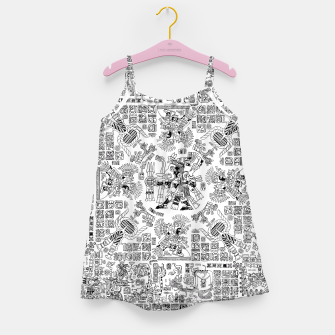 Thumbnail image of Mayan Spring B&W Girl's Dress, Live Heroes