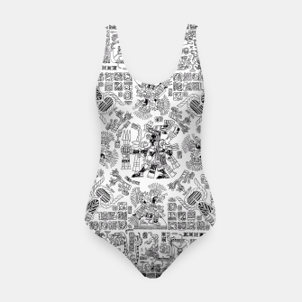 Thumbnail image of Mayan Spring B&W Swimsuit, Live Heroes