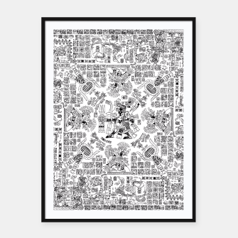 Thumbnail image of Mayan Spring B&W Framed poster, Live Heroes