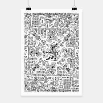 Thumbnail image of Mayan Spring B&W Poster, Live Heroes