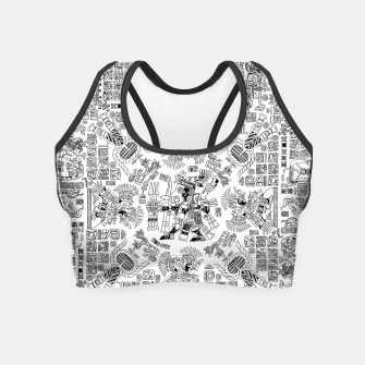 Thumbnail image of Mayan Spring B&W Crop Top, Live Heroes