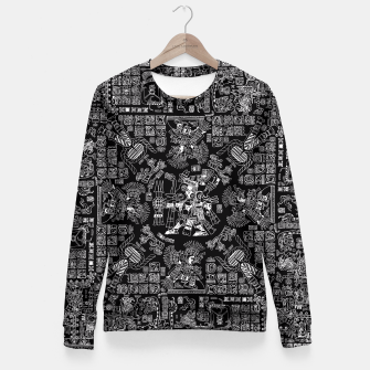 Thumbnail image of Mayan Spring B&W II Fitted Waist Sweater, Live Heroes