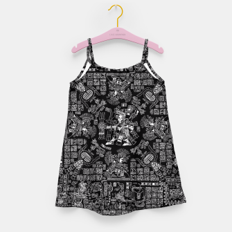 Thumbnail image of Mayan Spring B&W II Girl's Dress, Live Heroes