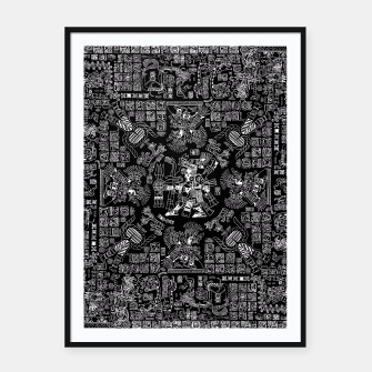 Thumbnail image of Mayan Spring B&W II Framed poster, Live Heroes