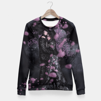 Thumbnail image of Bakeneko and Kitsune by the Sakura Tree Fitted Waist Sweater, Live Heroes
