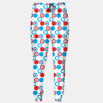 Miniatur Retro Hexagons - Red White and Blue Sweatpants, Live Heroes
