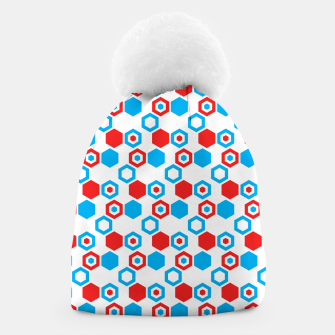 Miniatur Retro Hexagons - Red White and Blue Beanie, Live Heroes