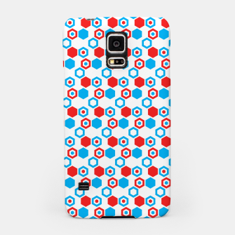 Miniatur Retro Hexagons - Red White and Blue Samsung Case, Live Heroes