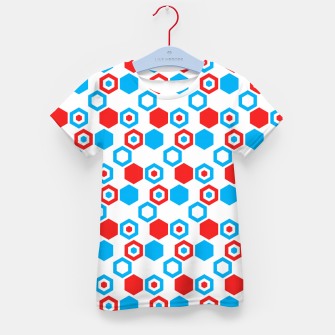 Miniatur Retro Hexagons - Red White and Blue Kid's T-shirt, Live Heroes