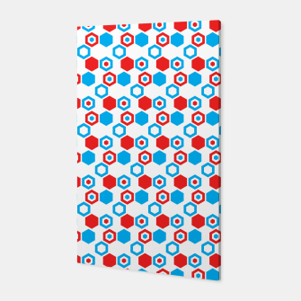 Miniatur Retro Hexagons - Red White and Blue Canvas, Live Heroes