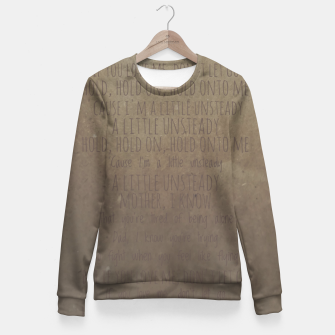 Miniature de image de Unsteady Fitted Waist Sweater, Live Heroes