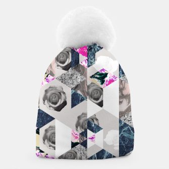 Thumbnail image of Geometric mosaic of textures and roses Gorro, Live Heroes