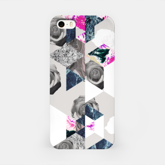 Thumbnail image of Geometric mosaic of textures and roses Carcasa por Iphone, Live Heroes