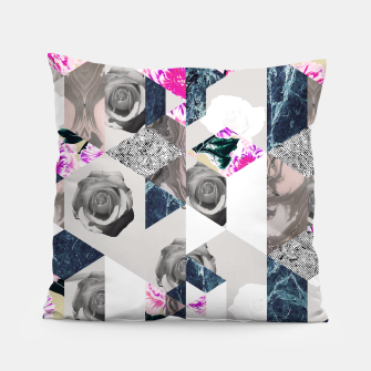 Thumbnail image of Geometric mosaic of textures and roses Almohada, Live Heroes
