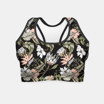 Miniature de image de Dark pattern botanical boho Crop Top, Live Heroes