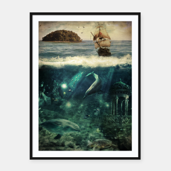 Miniatur Water World Framed poster, Live Heroes