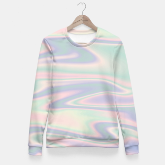 Thumbnail image of Holographic Design Taillierte Sweatshirt, Live Heroes