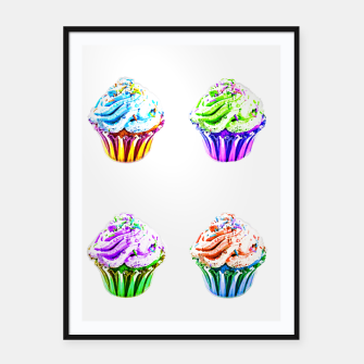 Thumbnail image of Cupcake Popart Framed poster, Live Heroes