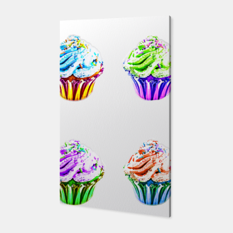 Thumbnail image of Cupcake Popart Canvas, Live Heroes