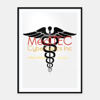 Thumbnail image of MediTEC Cybernetics Framed poster, Live Heroes