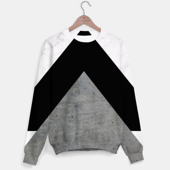 Thumbnail image of Arrows Collages Monochrome  Sweater, Live Heroes