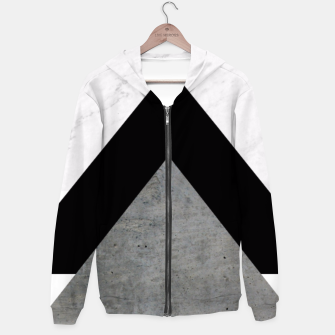 Thumbnail image of Arrows Collages Monochrome  Hoodie, Live Heroes