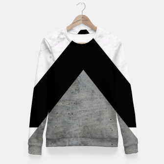 Thumbnail image of Arrows Collages Monochrome  Fitted Waist Sweater, Live Heroes