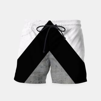 Thumbnail image of Arrows Collages Monochrome  Swim Shorts, Live Heroes